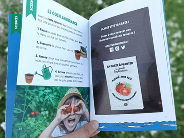 Pack Les Grands Explorateurs - C'est un jeu d'enfant - Carte à planter et livre pédagogique