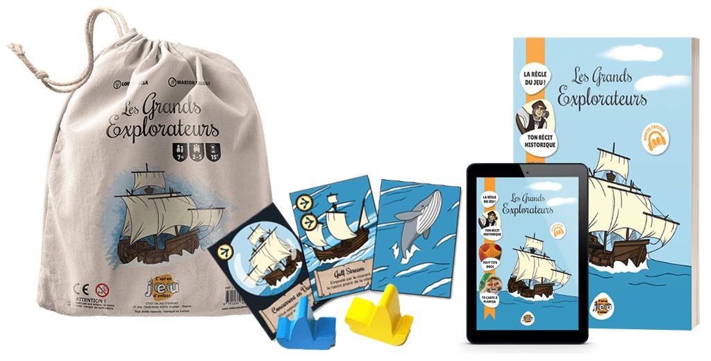 Pack Les Grands Explorateurs - C'est un jeu d'enfant - Jeux de société pédagogiques créés par des enseignants v3