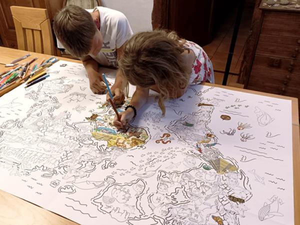 Coloriage Géant (1) - Les Grands Explorateurs