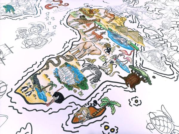 Coloriage Géant (2) - Les Grands Explorateurs