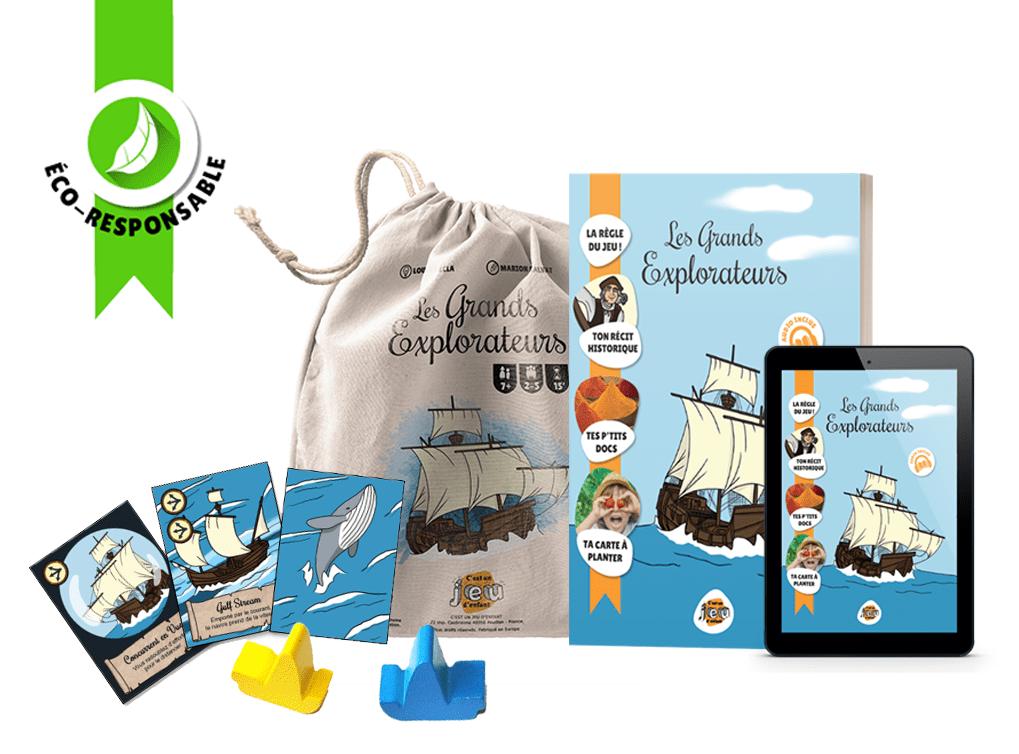 Pack Les Grands Explorateurs - C'est un jeu d'enfant - Jeux de société pédagogiques créés par des enseignants v2