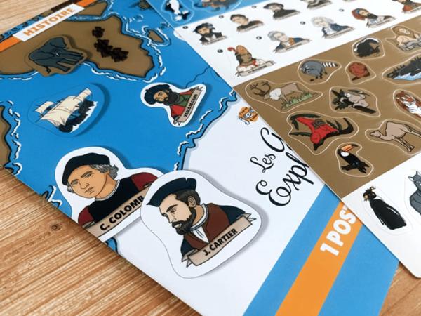 Poster et stickers (1) - Les Grands Explorateurs