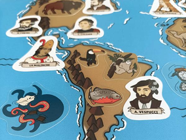 Poster et stickers (3) - Les Grands Explorateurs