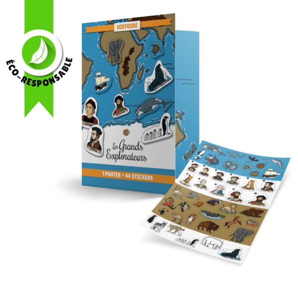 Poster et stickers Les Grands Explorateurs